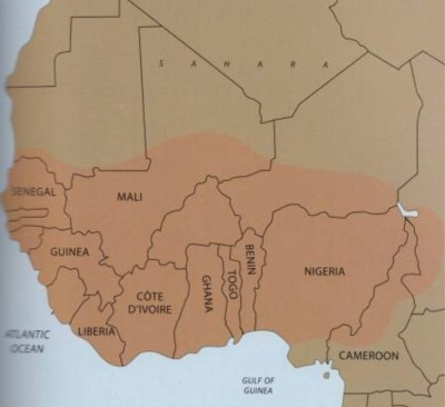 Fulani populations in west Africa