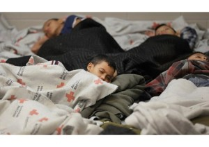 Children sleeping in detention center