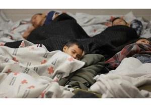 Children sleeping in detention center