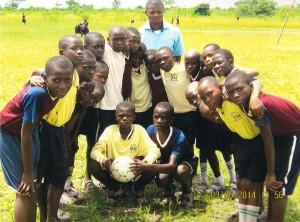 Boys football (soccer) team, Little Angels School, Ichama, Nigeria