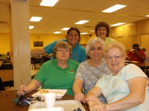 Pantry staff volunteers:  Tina Marie, Maureen, Barbara, Sr. Fiorentina, Virginia