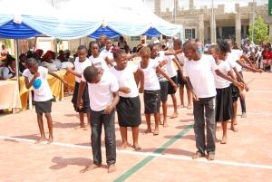 Children dance at reception