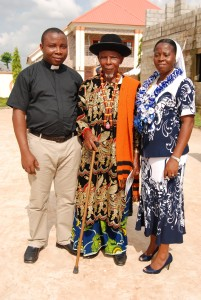 Sr. Ndifreke with her father and brother