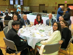 Dr. Okulski and guests, faithful patron HVM mission